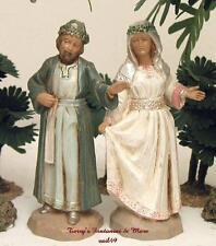 "FONTANINI DEPOSE ITALY 5"" BRIDE&GROOM AT CANA NATIVITY VILLAGE 53508 NEW NO BOX"