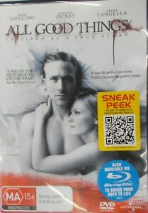 All Good Things (2010 Ryan Gosling) DVD R4 Australian Format.