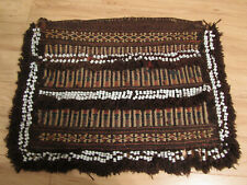 Antique Tribal Sumak Woven Saddle Bag from Afghanistan