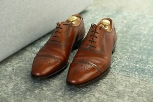 Brooks Brothers Peal and Co Red Brown Captoes - 9.5 D - Perfect Condition!