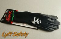 MCR Gloves- Ninja X Black Safety Hand Palm Fingertips Protection Nylon Work Cool