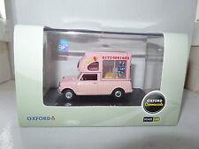 Oxford  MP011 1/43 O Scale Leyland Mini Batman Ice Cream Van Huskys Ices Pink