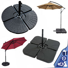 Set of 4 Parasol Base Weight Outdoor Umbrella Cantilever Sand Water Filled Stand