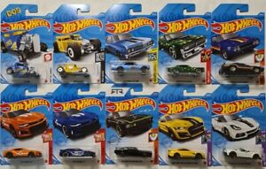 HOT WHEELS SET OF 10 MUSCLE FORD CHEVY PLYMOUTH SHELBY MERCURY BONE SHAKER