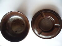 Vintage Bakelite travel ashtray ash tray screw on lid and bowl