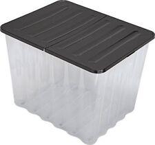 Strata Supa Nova 110L Plastic Storage Crate with Black Lid