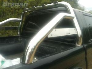 To Fit 2007- 2012 Isuzu D Max Rodeo Sport Roll Bar Polished Stainless Steel