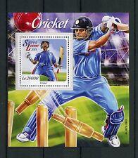 Sierra Leona 2015 estampillada sin montar o nunca montada Cricket 1v s/s Sellos De Deportes