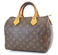 Authentic LOUIS VUITTON Speedy 25 Monogram Boston Handbag Purse #36521
