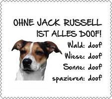 """Displayreinigunstuch Jack Russell """"ALLES DOOF"""" Brillenputztuch Hund GT0003"""