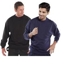 Click Premium Heavyweight Crew Neck Sweatshirt Jumper Work Black or Navy Blue