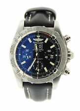 Breitling Windrider Blackbird Chronograph Stainless Steel Watch A4435910/B811