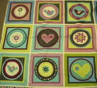 Pretty Paisley flannel blocks panel Kaufman fabric