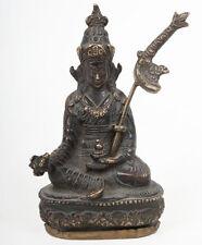 Tibet 20. JH. - A Tibetan Bronzo figure of Padmasambhava-tibétain tibetano