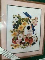 """ELSA WILLIAMS CREWEL EMBROIDERY KIT """"UNDER CONSTRUCTION"""" NEW SEALED MADE IN USA"""