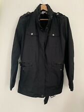 Ladies Raincoat Techlab XL/16 Black Long Sleeve Casual Polyester <JS2350