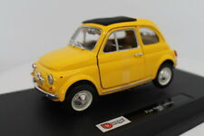 Fiat 500 F 1965 Yellow 1:24 Burago BU22098Y