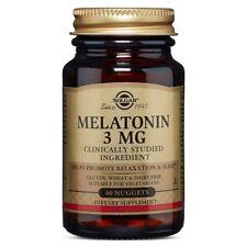 Solgar Melatonin 3 mg - 60 Nuggets FRESH, FREE SHIPPING, MADE IN USA
