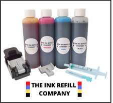HP 302 HP302 XL Black & Colour Ink Cartridge Refill Kit With Video Instructions