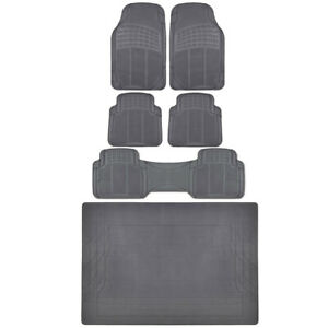 SUV Truck Floor Mats Front Rear Trunk Gray All Weather Protection Premium BDK