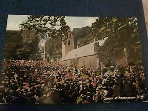 SUNDAY AT KIRKBRADDAN POSTCARD 1909