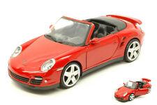 Porsche 911 (997) Turbo Cabrio 2005 Red 1:24 Model MOTORMAX