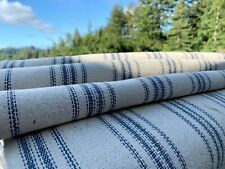 Grain Sack Fabric by the Yard, Ticking Fabric, French Country, Cottage Farmhouse