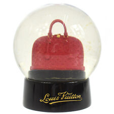 Authentic LOUIS VUITTON Snow Globe Dome Object Alma Novelty Red Glass AK29361