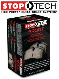 Front Sport Disc Brake Pads Set High Friction StopTech For Toyota Datsun Nissan