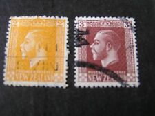 NEW ZEALAND, SCOTT # 163/164(2), 2p+3p. VALUES 1916-19 KGV DEFINITIVE ISSUE USED