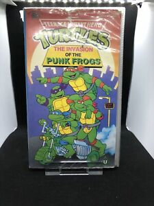 Teenage Mutant Hero Turtles VHS The Invasion Of The Punk Frogs
