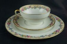 Vintage Ahrenfeldt Limoges France Floral Design 3 piece tea set [Y8-W6-A9]