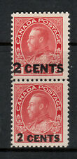 Canada #139v Mint Fine - Very Fine Lightly Hinged Essay Overprint Pair