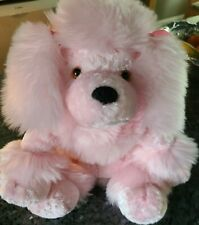 Mary Meyer Fuzzy Stuffed Plush Pink Poodle Toy with Flexible Legs and Feet