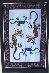 Tapestry Indian Handmade Wall Lizard Print Wall Hanging Poster Home Decor Throw