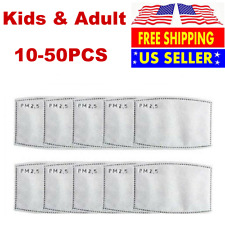 100pcs Pm2.5 Activated Carbon Filter Insert Pad For Kids Adult Face Mask Pocket