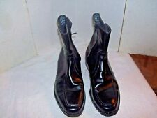 Men's Zip Up Dress Boots Black Leather 10 eee