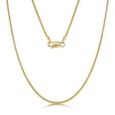 9ct Oro Amarillo Doble espiga Cadena 18'' PULGADAS