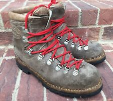 vtg FABIANO 772 Mountaineering Hiking Boots Brown Leather Size MEN'S 10?