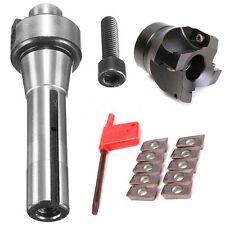 R8 FMB22 Morse Taper Holder Face Mill Cutter 10Pcs AMPT1604 Carbide Insert New