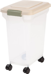 Airtight Storage Container Large Bin For Pet Cat Dog Food Bird Seeds Rolling Box