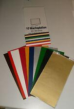 Wachsplatten z. Kerzenverzieren 10 Farben sortiert 200x100mmx0,5mm Verzierwachs