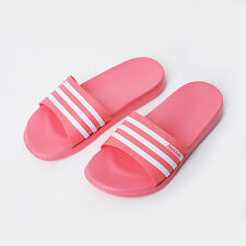 Womens Sports Gym Sandal Slipper Summer Stripe Shoes Beach Flip Flops Pink