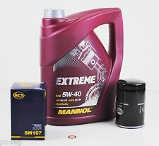 5 Liter Motoröl MANNOL EXTREME SAE 5W-40 SN/CF A3/B4 Ölfilter Dichtring VW AUDI