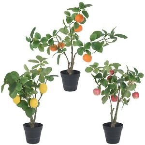 Artificial Mini Plastic Decorative Fake Blooming Fruit Tree Home Party Décor