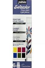 Pebeo Setacolor Fabric Paint 6 x 20ml Light Fabrics Textile Material 756482