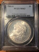 1881-S Morgan Silver Dollar - PCGS MS 63 - High Quality Scans #0461