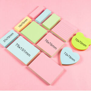 Memo Pad Post It Sticky Notes Self Adhesive Message Stickers Reminders Removable