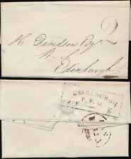 SCOTLAND 1828 MUSSELBURGH PPO BOXED + HANDSTRUCK 2...FISHERROW...MITCHELL SIGNED