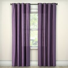 Natural Solid Curtain Panel - Threshold Purple 84""